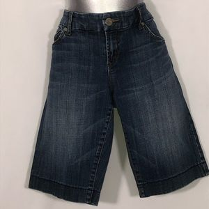 !IT JEANS Bermuda lightly distressed blue jeans